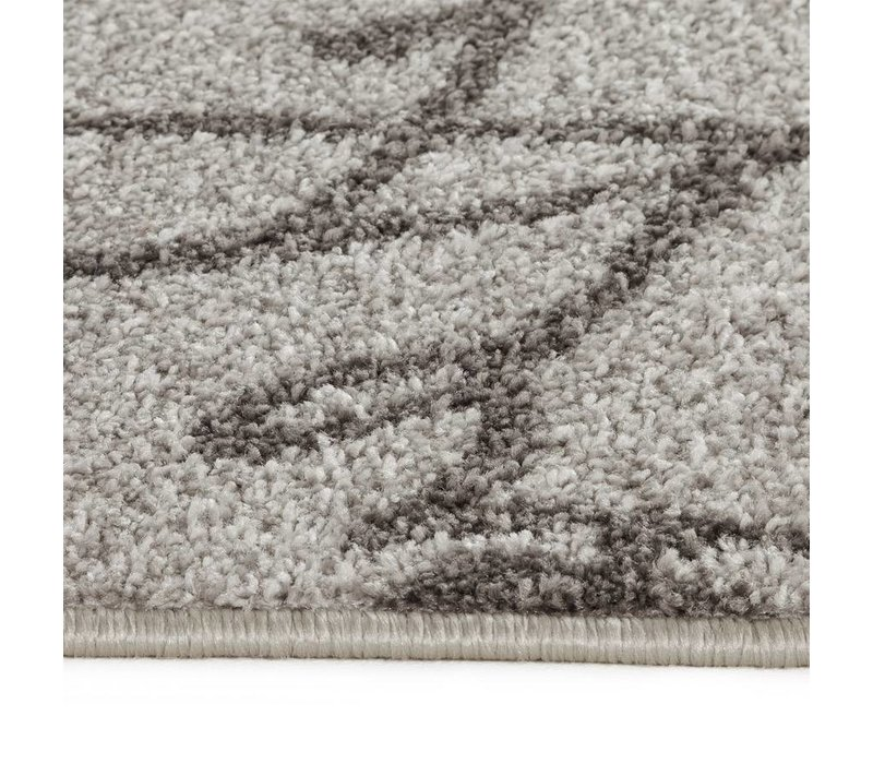 Vloerkleed SCRIBE 230x160cm grijs/zwart