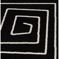 Vloerkleed LINIO 230x160cm zwart/wit