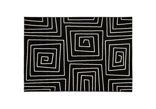 Kokoon design Vloerkleed LINIO 230x160cm zwart/wit