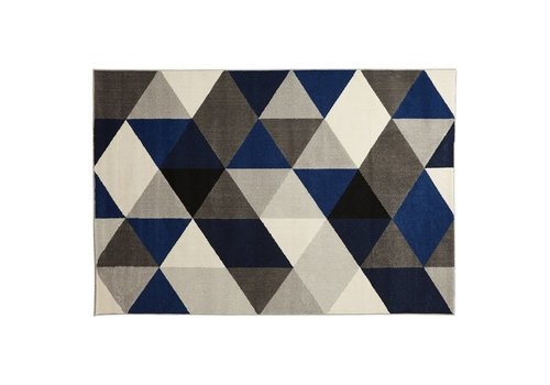 Kokoon design Vloerkleed MUOTO 230x160cm blauw/zwart