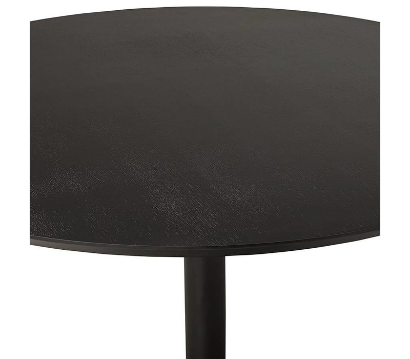 Eettafel  PATON 120cm walnoot-zwart