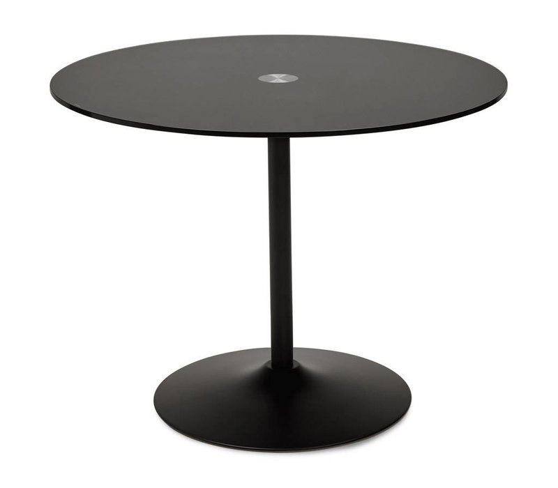 Eettafel rond BLOMA 100cm zwart