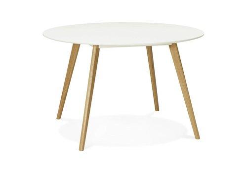 Kokoon design Eettafel rond CAMDEN 120cm wit
