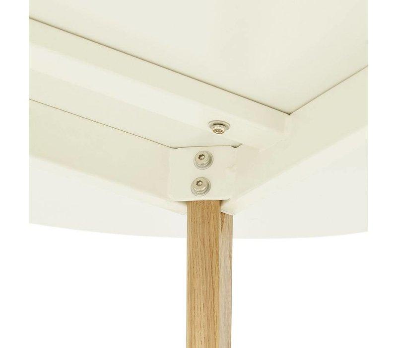 Eettafel rond CAMDEN 120cm wit