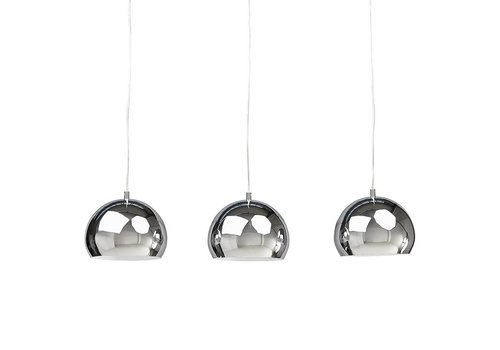Kokoon design Hanglamp set van 3 TRIKA chrome