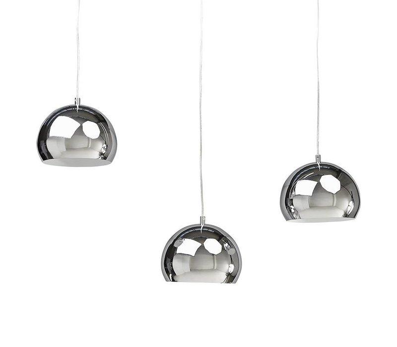 Hanglamp set van 3 TRIKA chrome