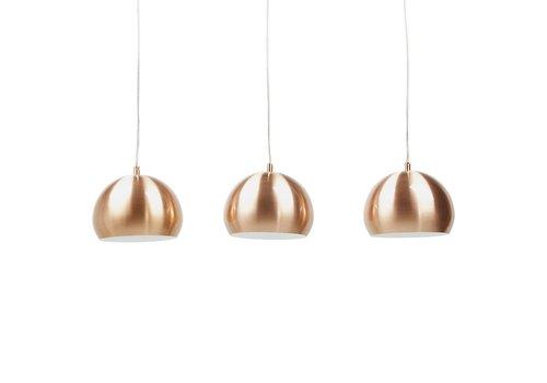 Kokoon design Hanglamp set van 3 TRIKA koper