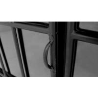 Dressoir Manhattan  metaal/glas  zwart