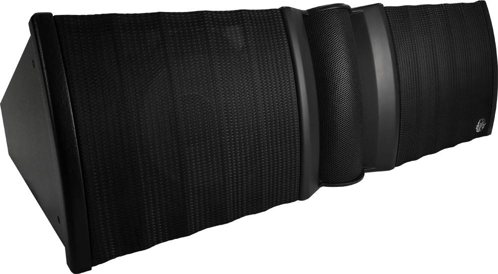 """Clair Brothers 3-way active curved array: 15""""LF,15""""MF, 2x3""""HF