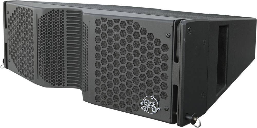 "Clair Brothers 3-way active mobile array: 2x8""LF,3.5""MF, 1.75""HF