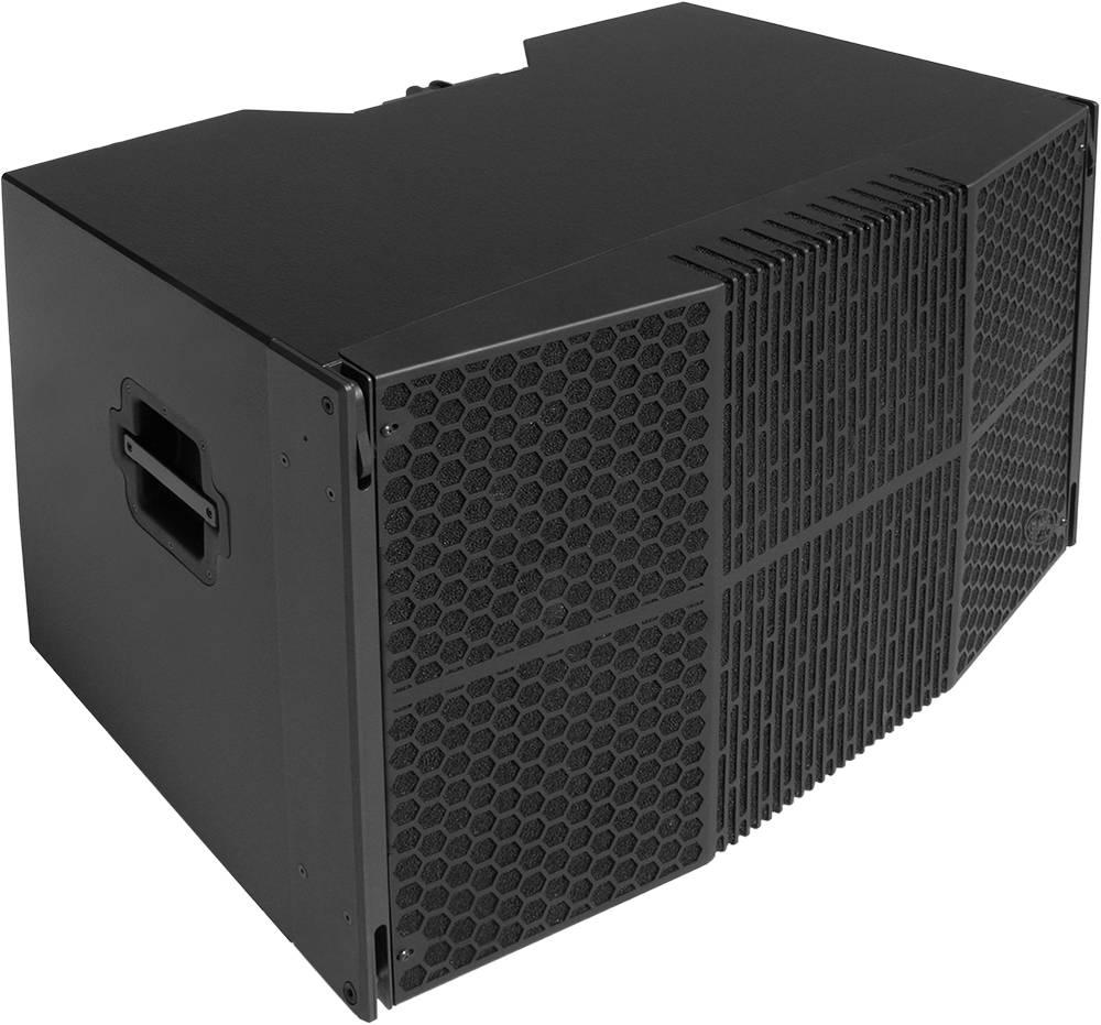 "Clair Brothers WR high output install Sub: 2x 18""  Carbon fiber cone"