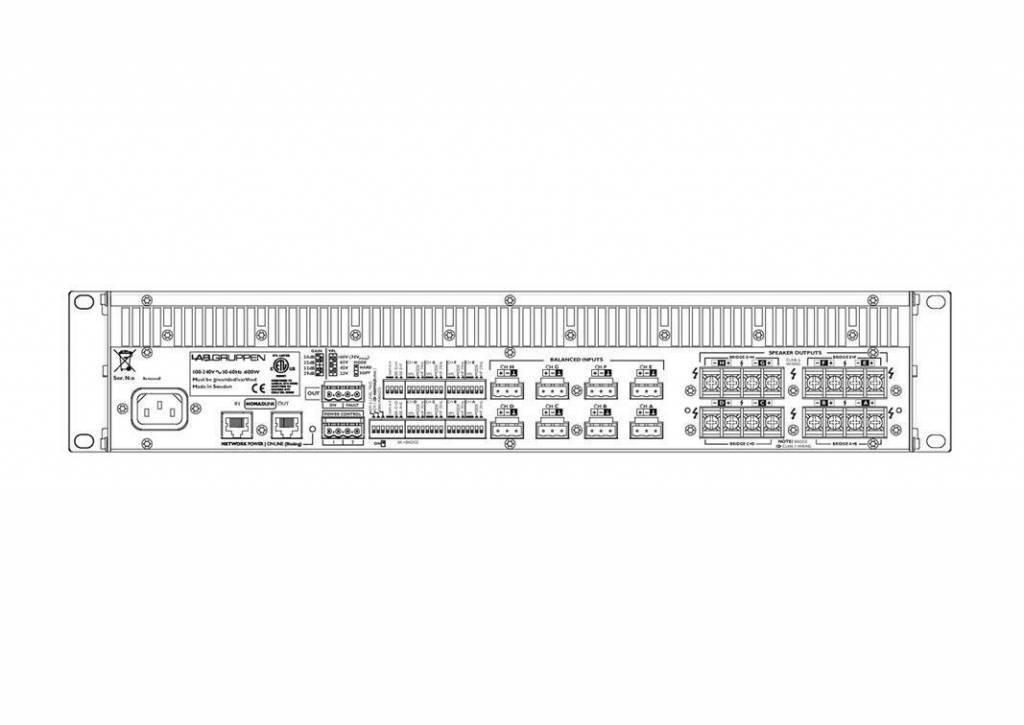 Lab Gruppen C 20:8X Amp 8x250W/4ohm EU+US