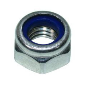 Borgmoer DIN985 met nylon ring verzinkt