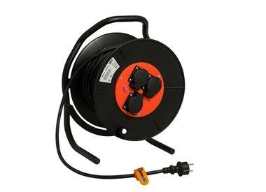 Kabelhaspels, TCD en stekkers