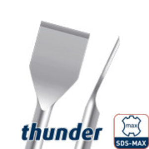 HEVU private label Spadebeitel gebogen Thunder SDS-max 50x380 mm