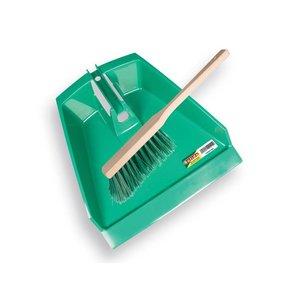 Solide Solide Stoffer met blik groen kunststof - 1492030