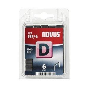 Novus Novus Vlakdraad nieten D 53F/6 mm - 1200 stuks - 042-0374