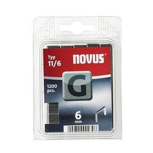 Novus Novus Vlakdraad nieten G 11/6 mm - 1200 stuks
