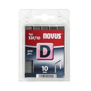Novus Novus Vlakdraad nieten D 53F/10 mm - 600 stuks - 042-0376