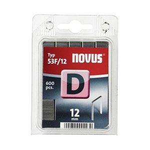 Novus Novus Vlakdraad nieten D 53F/12 mm - 600 stuks - 042-0377