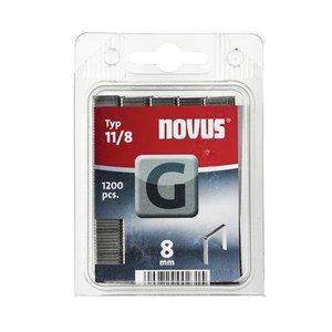 Novus Novus Vlakdraad nieten G 11/8 mm - 1200 stuks