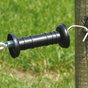 Koltec Koltec Poortgreep zwart 3-delig (simpel)