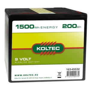 Koltec Koltec Batterij 9 Volt - 200Ah 163-45532