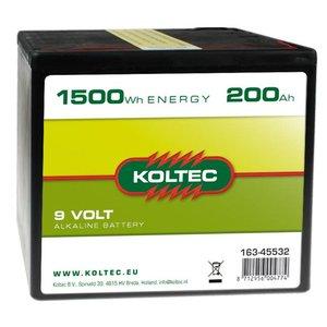 Koltec Koltec Batterij 9 Volt - 200Ah