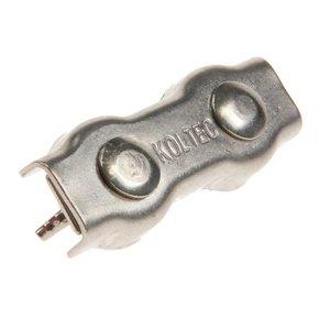 Koltec Koltec Verbinders voor koord tot 8 mm RVS/INOX - 4 stuks