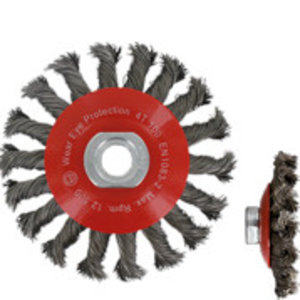 Rotec Rotec Kegelborstel ø100 mm M14 - Getordeerd staaldraad - 798.0040