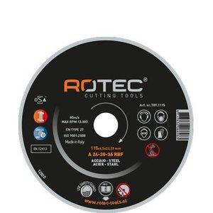 Rotec Rotec Doorslijpschijf dun 115 - 230 mm 1,3 mm t.b.v. staal en RVS