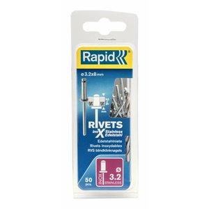 Rapid Rapid RVS popnagel - blindklinknagel Ø3,2 x 8 mm - 5000393