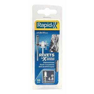 Rapid Rapid RVS popnagel - blindklinknagel Ø4,8 x 10 mm - 5000396