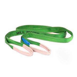 Hijsbanden 2 ton groen