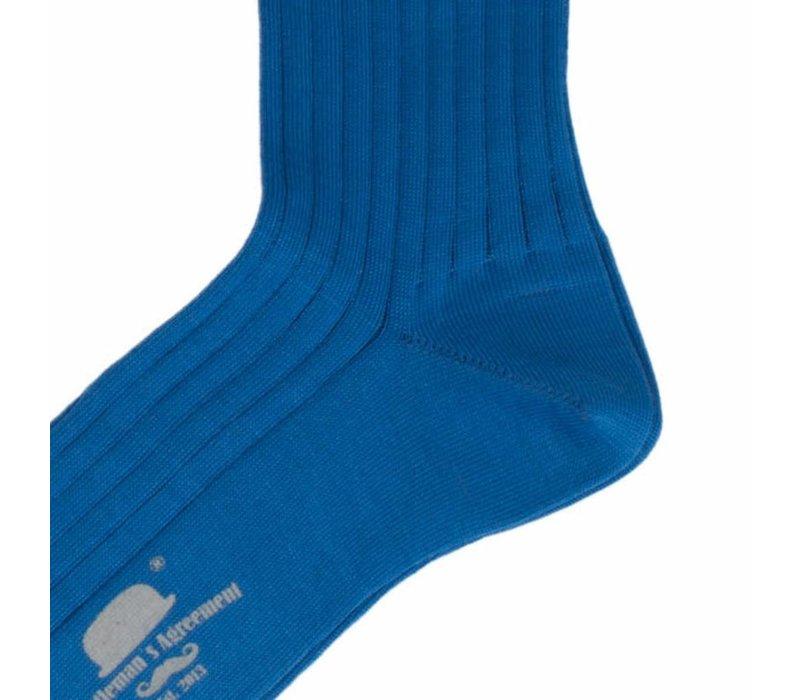 Herrenstrümpfe aus Mako Baumwolle in Blau