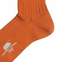 Herrenstrümpfe aus Mako Baumwolle in Orange