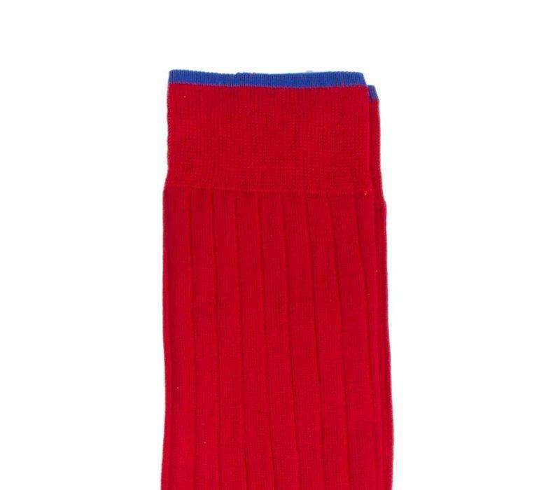 Herrenstrümpfe aus Mako Baumwolle in Rot und Royal