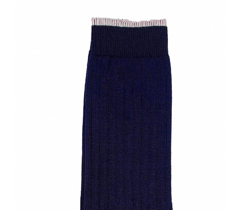 Strümpfe aus Mako Baumwolle in Marine und Rosa