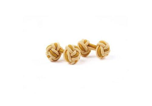 Gentleman's Agreement Manschettenknoten aus Seide in Gelb und Gold