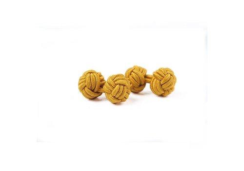 Gentleman's Agreement Manschettenknoten aus Seide in Gold