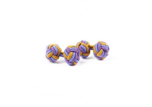 Gentleman's Agreement Manschettenknoten aus Seide in Gold und Violett und Flieder