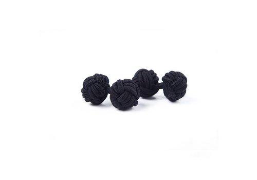 Gentleman's Agreement Manschettenknoten aus Seide in Schwarz