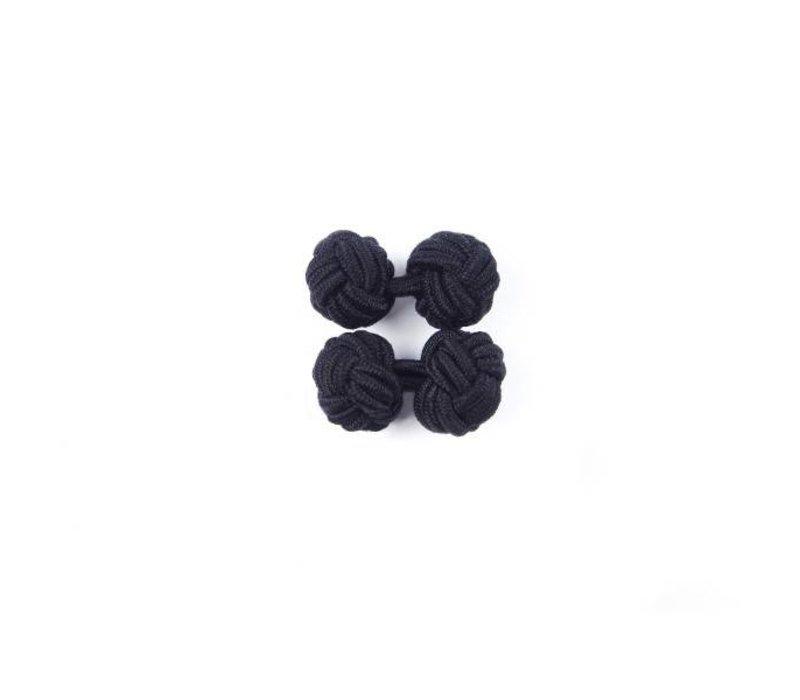 Manschettenknoten aus Seide in Schwarz