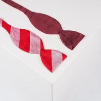 Fliege  - Bordeauxrot, Rosé und Rot