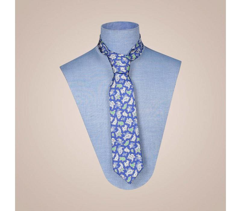 Krawatte handgefertigt aus Seide - Breite: 8 cm breite