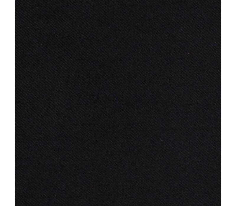 Handrolliertes Einstecktuch aus Seide - Schwarz