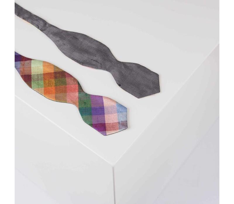 Fliege handgenäht aus Dupionseide - Selbstbinder