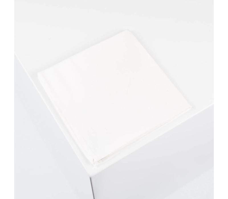 Einstecktuch handgenäht aus Dupionseide in Elfenbeinweiß