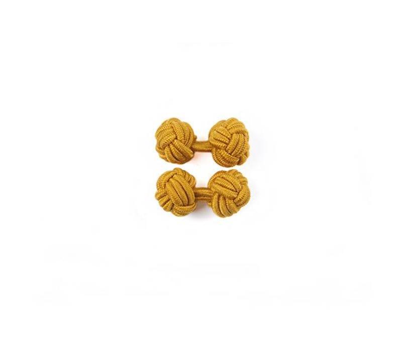 Manschettenknoten aus Seide in Gold