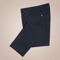 Chino aus schwarz-anthrazit gestreifter Baumwolle | Passform: Slim Fit